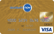 AccountNow® Gold Visa® Prepaid Card - Card Image