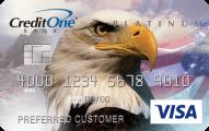 Credit One Bank® Unsecured Platinum Visa® - Card Image