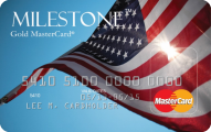 Milestone® Unsecured MasterCard® - Card Image