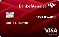 Bank of America® Cash Rewards Credit Card - Card Image