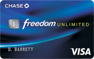 Chase Freedom Unlimited℠ - Card Image