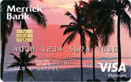 Merrick Bank Double Your Line™ Platinum Visa® Credit Card - Card Image
