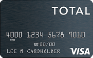 Total VISA® Unsecured Credit Card - Card Image